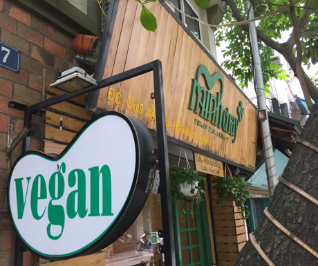 Vegan Restaurant, Hanoi, Vietnam