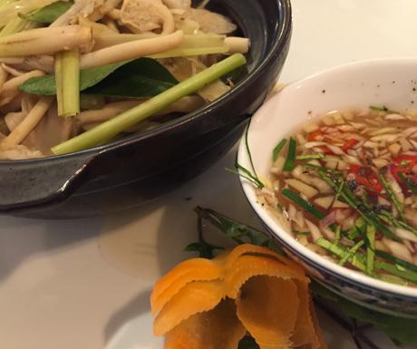 mushrooms, lemongrass, vegan food, Hanoi, Vietnam
