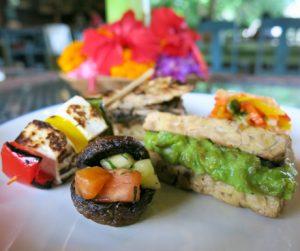 savoury selection from our vegan 'Royal High Tea' at Alaya Resort Jembawan