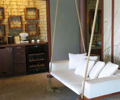 swing seats in villa at An Lam Villas
