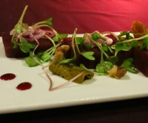 Pickled Beetroot Salad Served With Baby Cress at An Lam Villas