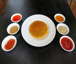 vegan waffles at Anilana Nilaveli