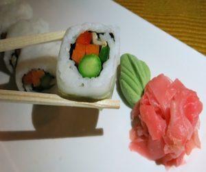 vegan sushi at Atmosphere Kanifushi