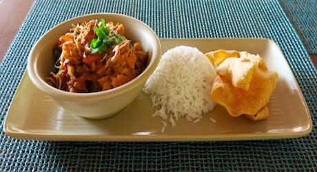 cauliflower vegan curry at Ayada Maldives