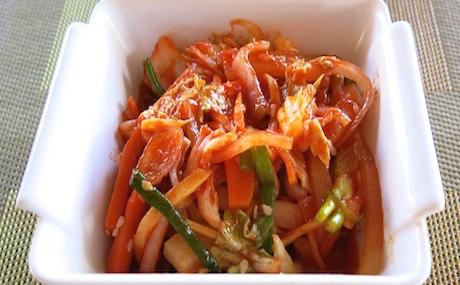 vegan kimchi at Ayada Maldives