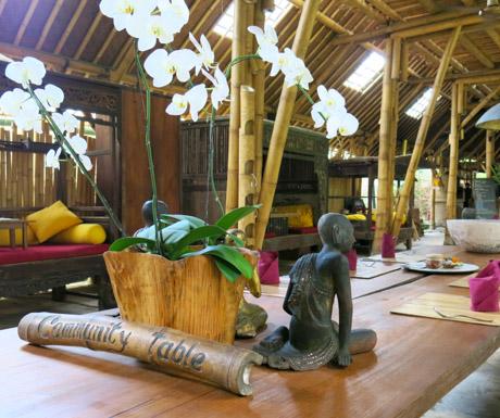 Community Table at Bambu Indah