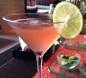 cosmopolitan cocktail at Conrad Bali