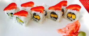 vegan sushi at Conrad Bali