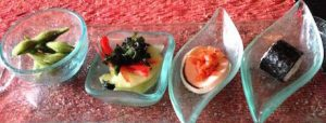 more vegan canapes at Conrad Bali