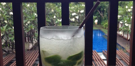 lemongrass mojito at Conrad Bali
