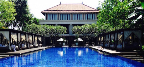 swimming pool at Conrad Bali Pool Suites