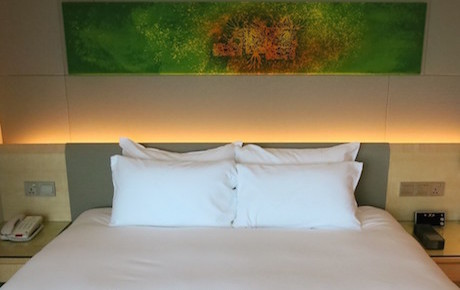 comfortable bed at DoubleTree Johor Bahru