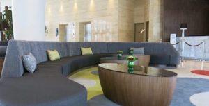 lobby at DoubleTree Hilton Jakarta