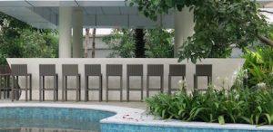 swimming pool at DoubleTree Hilton Jakarta
