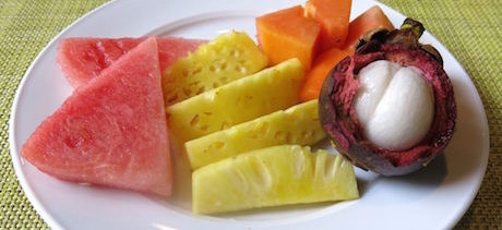 fruit salad DoubleTree Hilton Jakarta