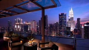 amazing views from corner suite at DoubleTree Kuala Lumpur