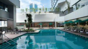 swimming pool at DoubleTree Kuala Lumpur