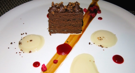delicious vegan cake at Tosca