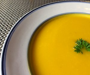 Creamy, rich and healthy vegan pumpkin soup