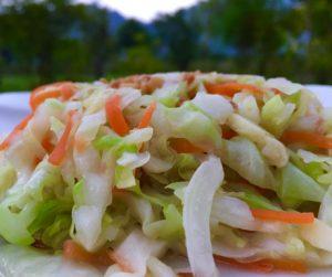 Sauteed Dalat cabbage and mixed veg