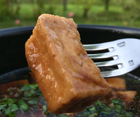 Delicious caramel tofu dish at Emeralda Resort Ninh Binh