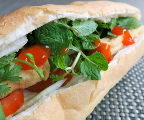 vegan bahn mi at Emeralda Resort Ninh Binh