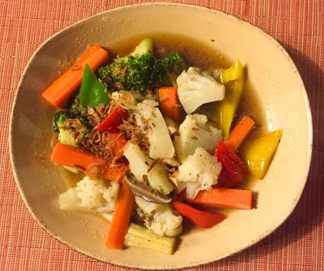 vegan mixed vegetable dish at Four Seasons Langkawi