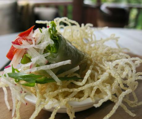 Fresh lettuce roll vegan snacks at Four Seasons Langkawi