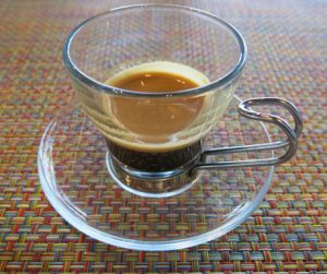 double espresso to start the day in Langkawi