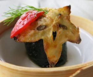 vegan fruit sushi with star fruit