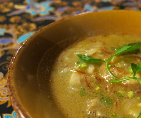 vegan sup cendawan at Four Seasons Langkawi
