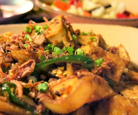 vegan tofu dish at Four Seasons Langkawi