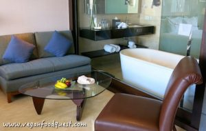 bathroom in a suite at Hilton Bandung
