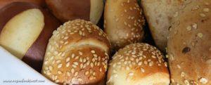 vegan bread basket at Hilton Bandung