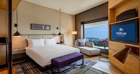 executive room with lake view at Hilton Kuala Lumpur