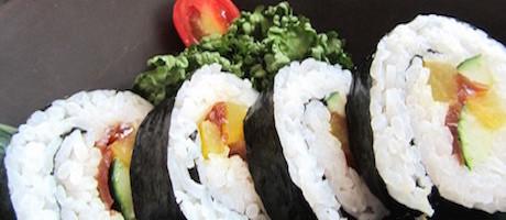 vegan sushi at Hilton Kuala Lumpur