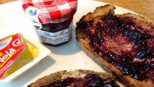 vegan butter, toast and jam at Hilton Kuala Lumpur