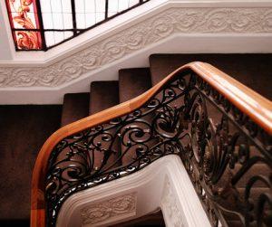 spiral staircase at Hotel Infante Sagres