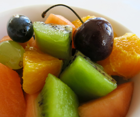 selection of fruits at Hotel Infante Sagres