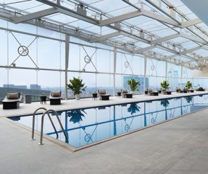 Stunning swimming indoor pool at JW Marriott Hotel Hanoi