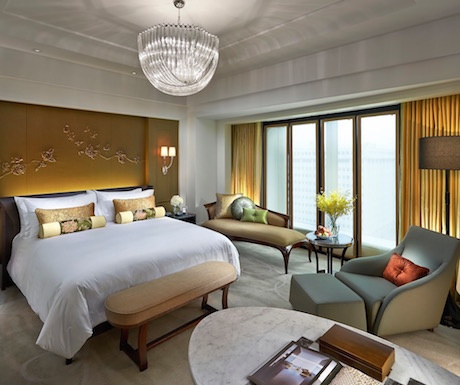 deluxe king bedroom at Mandarin Oriental Taipei