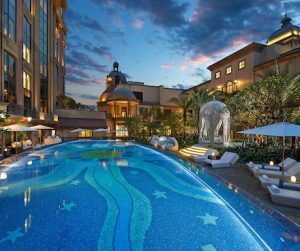 swimming pool at Mandarin Oriental Taipei
