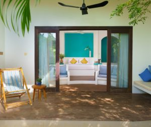 private terrace of the Grand Tour room at Navutu Dreams