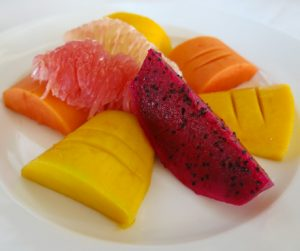 Tropical fruit platter at Navutu Dreams