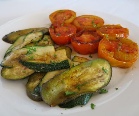 Perfectly seasoned Mediterraneanvegetables at Navutu Dreams
