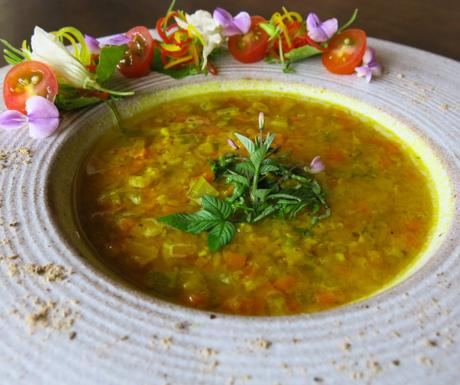 vegan Sunshine Lentil Soup at Navutu Dreams
