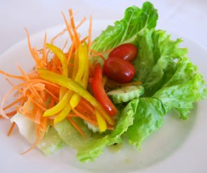 Light and fresh salad for breakfast at Navutu Dreams