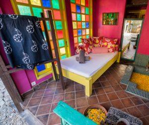 The spa treatment room at Puri Ganesha
