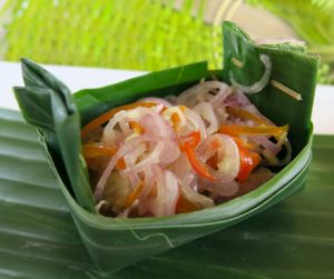 Lemongrass sambal served with the coconut soup