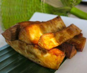 vegan fried casava chips